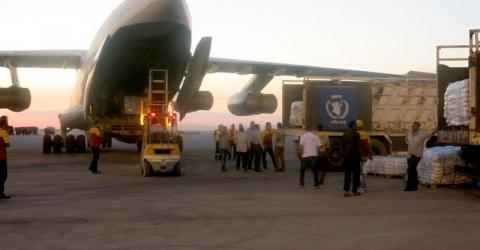 The first WFP relief flight to Al-Hasakeh was on 9 July. Photo: WFP