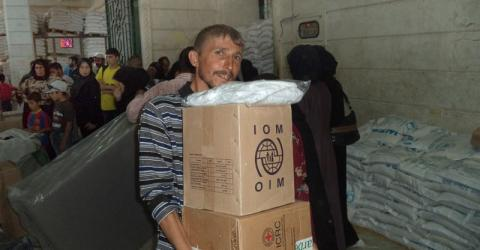 IOM delivers non-food relief items to western Aleppo. Photo: IOM