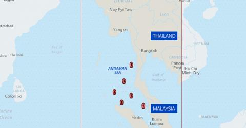 At least 6,000 migrants are believed to be stranded on smuggler boats in the Andaman Sea.