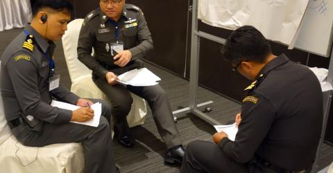 Frontline Thai immigration officials based on the Thai-Myanmar border attended the trainings. Photo: IOM