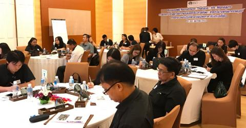 Participants at the IOM and Business Social Compliance Initiative (BSCI) of the Foreign Trade Association (FTA) workshop in Thailand. Photo: IOM