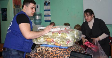 L'OIM étend l'aide aux victimes déplacées du conflit en Ukraine. © OIM 2015