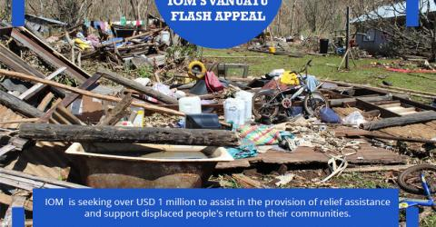 IOM is stepping in to assist the Government of Vanuatu and is seeking over USD 1 million to assist in the provision of relief assistance and support displaced people's return to their communities. © IOM/Joe Lowry 2015