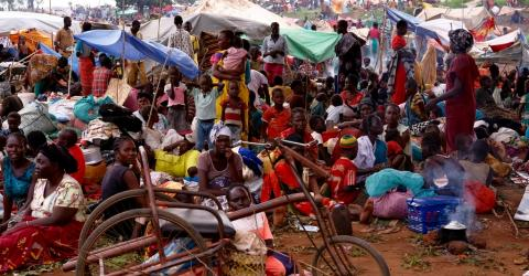 Displaced people at the Wau UNMISS base. Photo: IOM