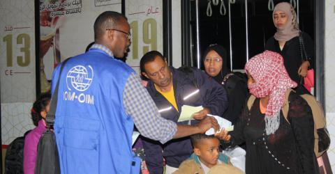 L'OIM reprend les vols d'évacuation au Yémen – © OIM 2015
