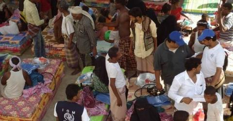 IOM distributes non-food relief items to displaced people in Yemen (File photo.) Photo: IOM 2015