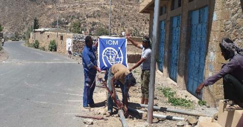 Maintenance of water pipe networks in Taizz, Yemen. Photo: IOM 2016