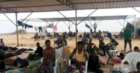 Ethiopian migrants evacuated from Yemen to Djibouti. File Photo: IOM
