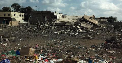 Much of Lahj governorate has been reduced to rubble by the conflict. Photo: IOM