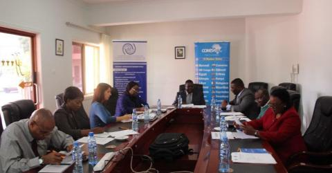 Participants at the launch of the Zambia NMC. Photo: IOM.