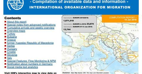 Europe/Mediterranean - Mixed Flows in the Mediterranean and Beyond   14 January 2016