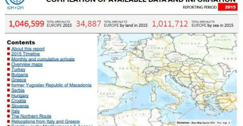 Europe/Mediterranean - Mixed Flows in the Mediterranean and Beyond - Flows Compilation Overview 2015