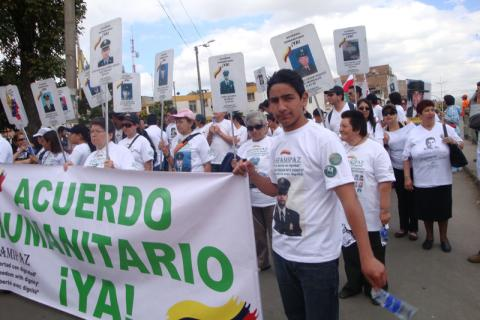 "On February 4, 2008, the ""Million Voices Against the FARC"" march took place, to demand peace for the country and reject the violent actions of the Revolutionary Armed Forces of Colombia (FARC), who are currently negotiating with the Colombian Government in Havana, Cuba. ©  Fucude archive."