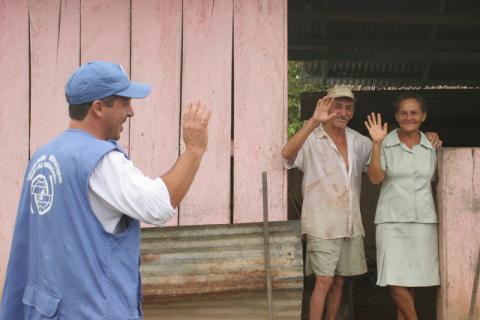 L'OIM, avec l'aide financière d'USAID, contribue au processus de réintégration d'ex-combattants depuis 2006. © OIM 2006