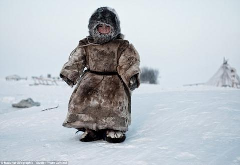Child of a vanishing culture, Siberia (National Geographic)