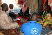 The IOM team carrying out the impact assessment of the returnees in Moussoro. © IOM 2012