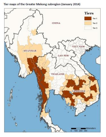 Priority areas for artemisinin resistance containment in Thailand, Myanmar, Lao PDR and Viet Nam