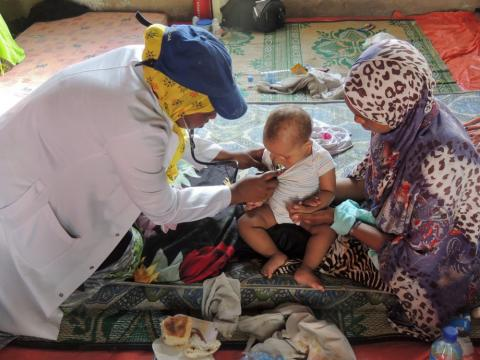 Between 1 June 2016 to 31 August 2016, IOM provided medical assistance to 47 individuals at the Migration Response Centre in Berbera, Somaliland. (Photo: IOM / Mohamoud Omer Ali 2016)