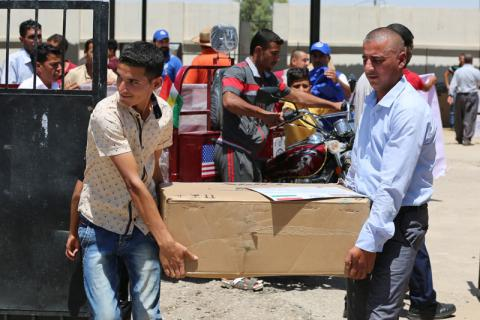 One Third of Iraqis Displaced from Gwer Return as Mosul Displacement Continues