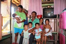 The Gaspean family from Tacloban.
