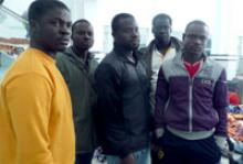African migrants at Djerba airport in Tunisia. © IOM 2011