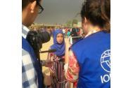 'Souhair' (13) meeting IOM team in Saydawah earlier this week. The teenager is looking forward to being back in school after a two-year hiatus. Photo: IOM/Joel Millman 2016