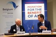 Directeur général de l'OIM William Lacy Swing et belge vice-Premier ministre Alexander De Croo. Photo: IOM