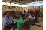 Ethiopian migrants at the Obock MRC in Djibouti. Photo: IOM