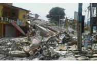 Entire neighborhoods on Ecuador's Pacific coast were flattened by the 7.8 earthquake. Photo: IOM