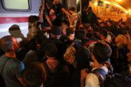 Syrian refugees and migrants cross the Serbian-Croatian border (File Photo). Photo: Francesco Malavolta/ IOM