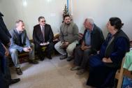 IOM meets with Iraqi officials and members of the local community in Baghdad's Zayouna Camp. © IOM 2016