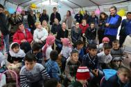 International donors meet refugees in Erbil. Photo: IOM