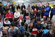 Donantes internacionales se reúnen con refugiados en Erbil. Foto: OIM.