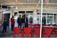 A Gwer coffee shop re-opens with help from an IOM business enhancement support package. Photo: IOM
