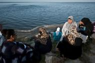 Mothers of young Tunisians missing after leaving for Europe by boat. Photo: Abdellah Elkorchi