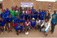 Football teams in the Place de la Concorde, Agadez. Photo: IOM.