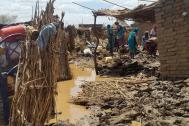 Flash floods devastated IDP camps in Shangel Tobay, North Darfur. Photo: IOM
