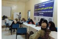Community leaders discuss priorities for returnees from Yemen. Photo: IOM