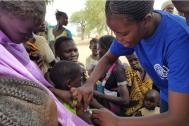 IOM conducts measles vaccination campaign in South Sudan's Aweil West County. Photo: IOM/2016