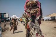 Desplazados internos de Sudán del Sur en el sitio de protección de la población civil en Malakal. Foto: OIM/ Musa Mohammed