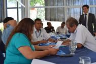 Government representatives from El Salvador, Guatemala and Honduras meet to discuss protection of vulnerable migrants . Photo: Jose Miguel Gómez / IOM