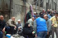 IOM reaches 10,000 displaced people and returnees with life-saving aid in one day in Aleppo. Photo: IOM