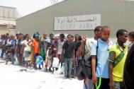 Stranded Ethiopian migrants evacuated by IOM last year from Yemen (File photo). © IOM 2015