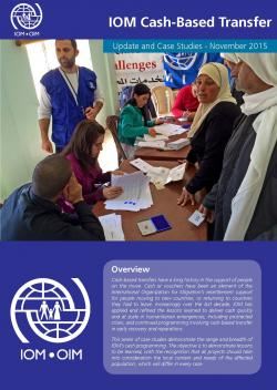 IOM Cash-Based Transfer Update and Case Studies, November 2015