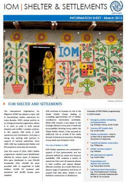 IOM Shelter and Settlements Information Sheet - March 2015