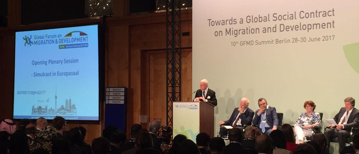 The Tenth Global Forum on Migration and Development (GFMD) Opens in Berlin on 28 June 2017 opened with commitment from high level officials to advance global migration governance and leverage the development and economic benefits of migration.