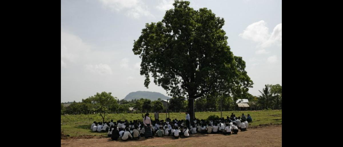 School where IOM provideds psycho social assistance and education on trafficking. Photo: @John Vink / Magnum Photo / IOM 2006