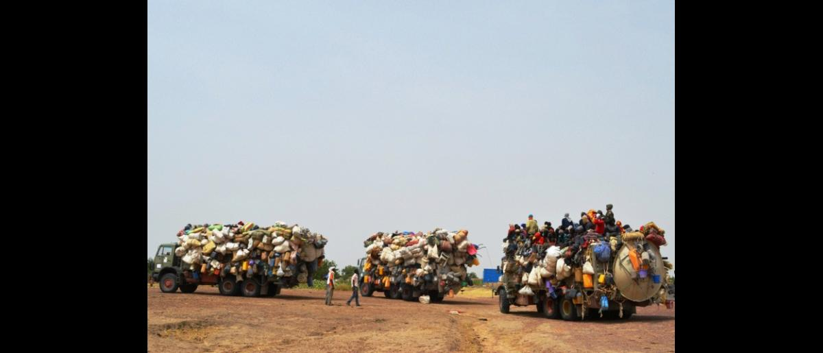 The Convoy proceeding its Trip from Zouarke to Faya (Northern Chad)