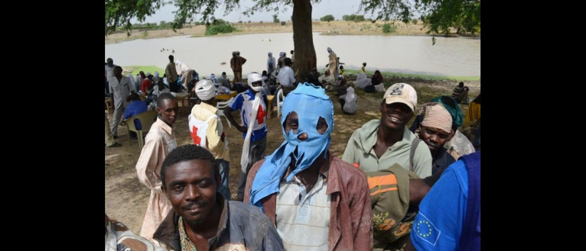 Migrants upon Arrival at the outskirts of N'Djamena