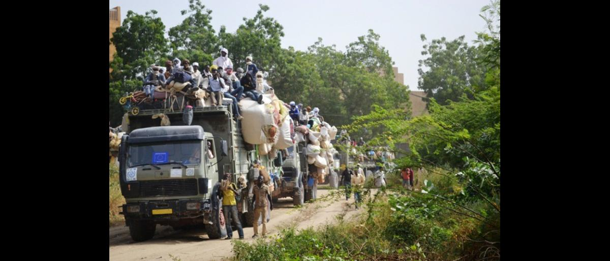 Arrival of the Migrant's Convoy at N'Djamena (Capital of Chad)